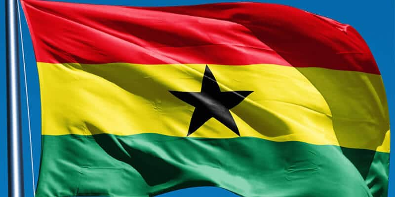 Who designed the Ghana flag and what does it stand for?