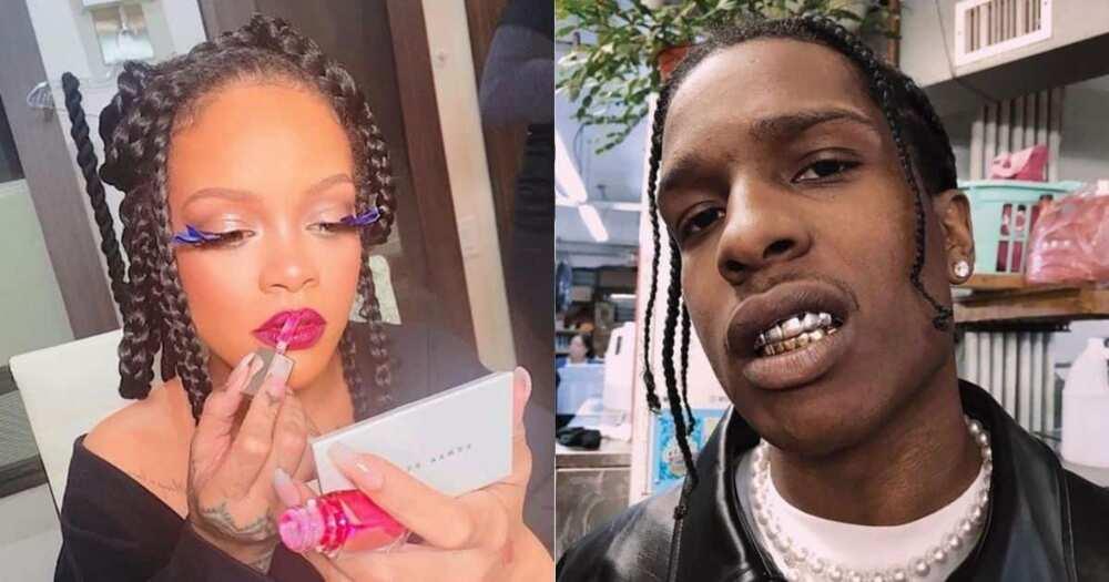 Rihanna, A$AP Rocky, spotted, New York, studio