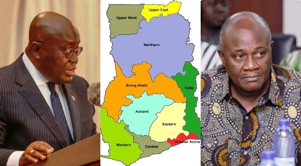Photo of new Ghana map after six new regions are added leaks online