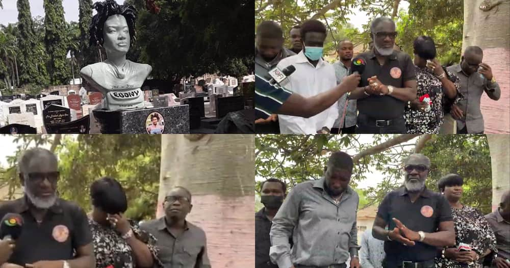 Ebony's mom and dad visit her tomb on 3rd anniversary; sad video drops