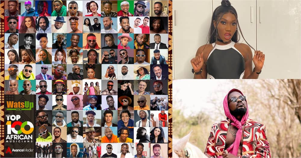 Shatta Wale, Sarkodie, Stonebwoy, Medikal, 6 Others Named In Watsup TV's Top 100 African Artistes List