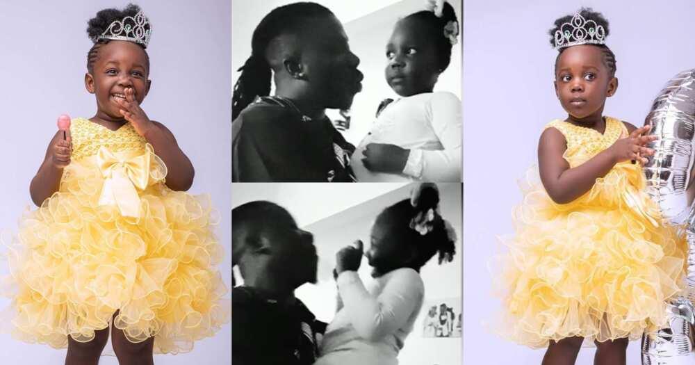 Stonebwoy Teaches His Daughter Jidula How To Speak Ewe In Funny Video