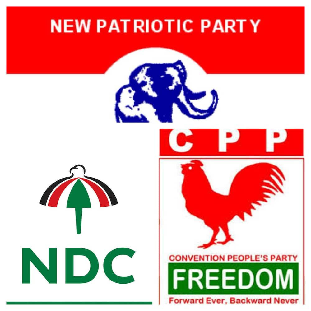political parties in Ghana and their flag bearers
