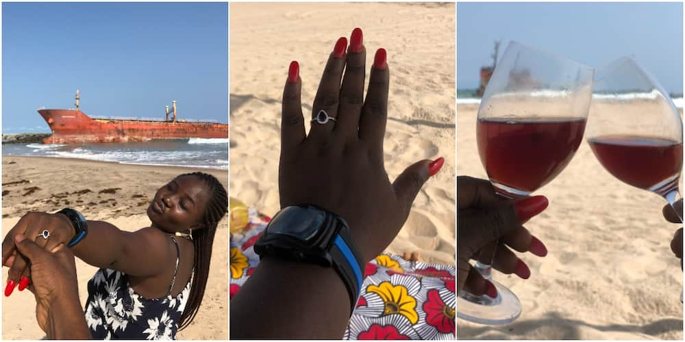 Nigerian Lady Celebrates after Getting Engaged, Many React to Adorable Photos