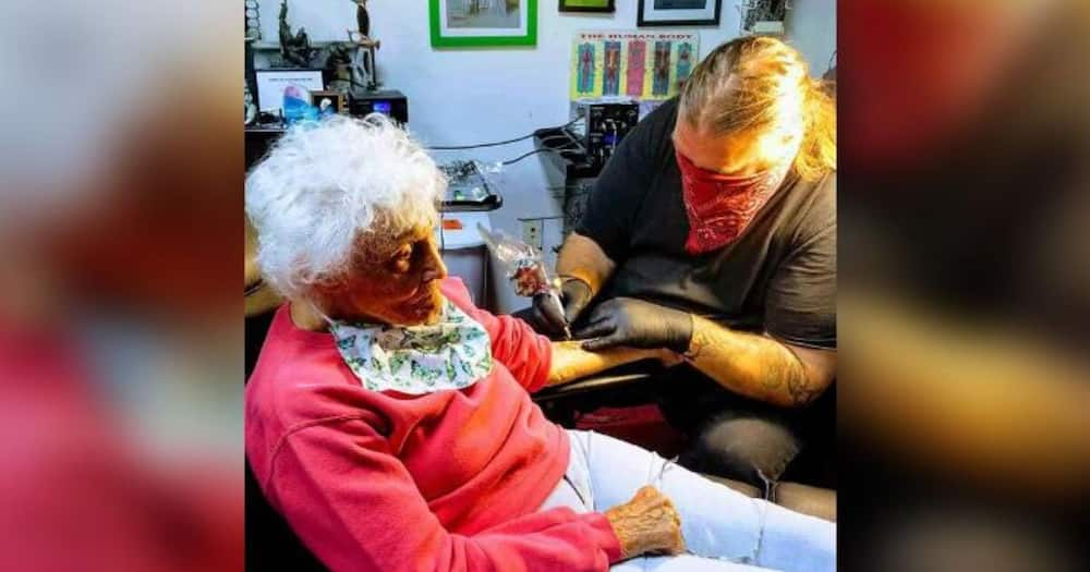 103-year-old grandmother gets her first tattoo