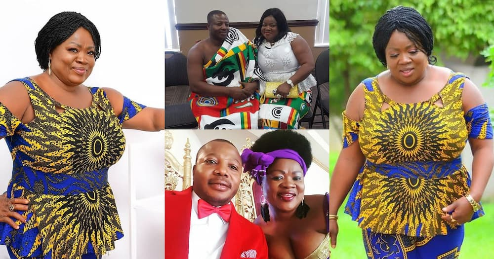 Ohene ne Ohemaa: Mercy Aseidu and hubby 'chop love' as they step out in 'twin' outfits in photo