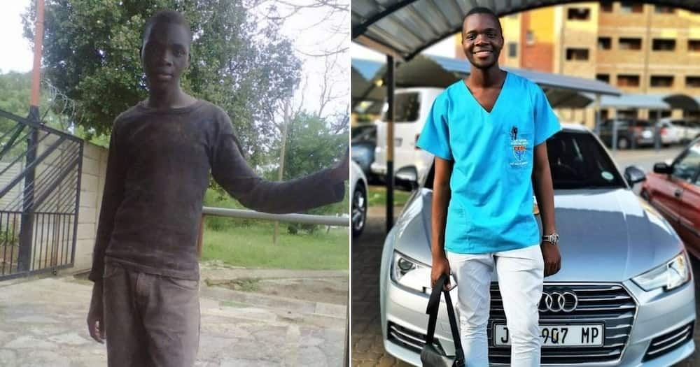Man who hustled to put himself through varsity gushes about success