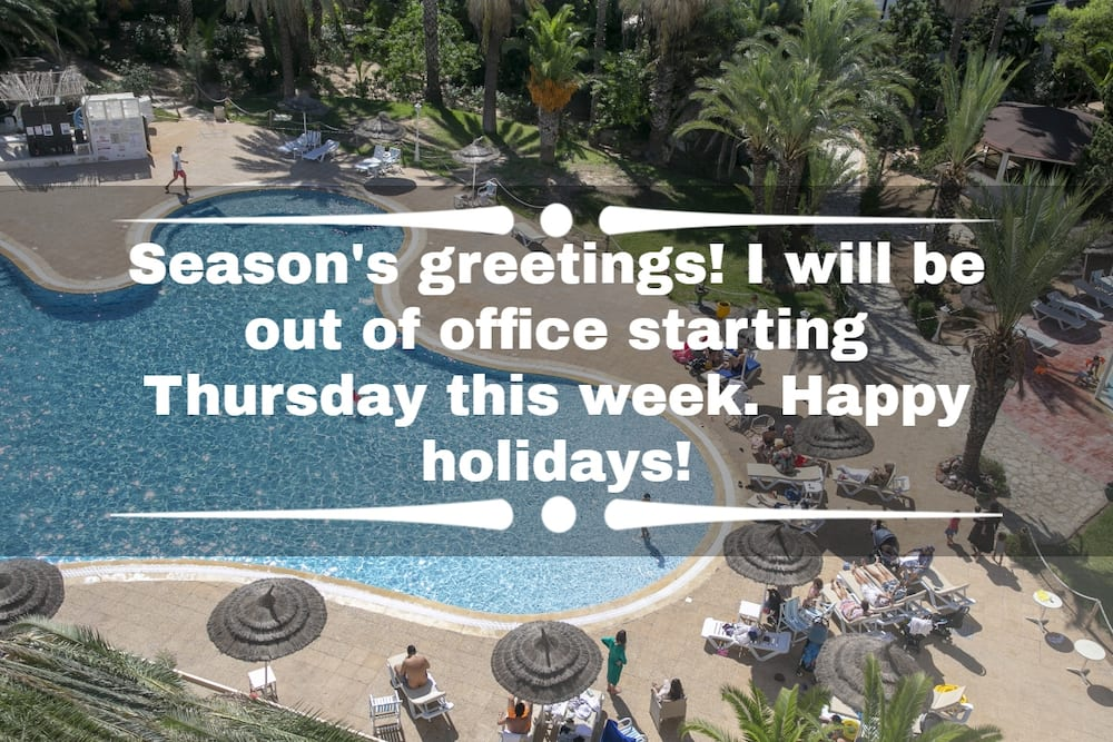 out of office messages for vacation