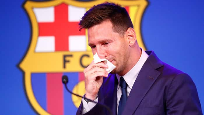 Lionel Messi's used tissue at Barcelona farewell goes up for sale and its worth close to six million cedis