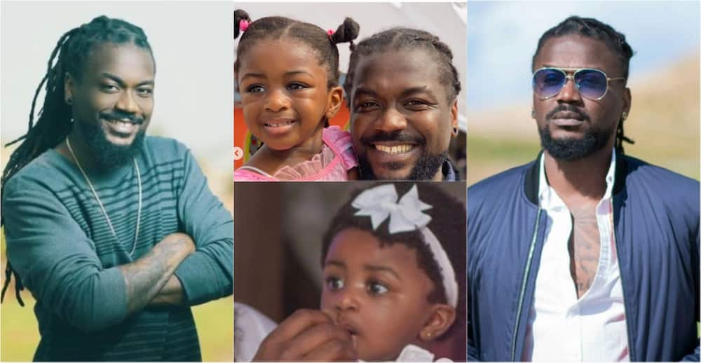Beautiful photos of Samini with his little daughter pop up