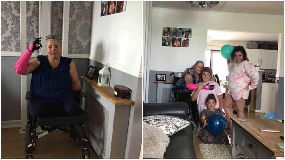 She can now hug her kids again.