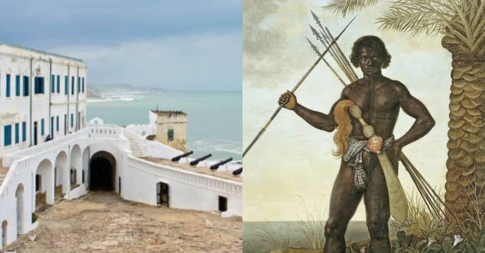 History of how Fantes settled in Ghana after being led by man-like animals told