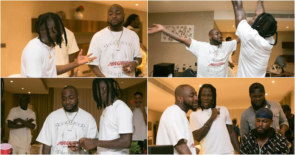 Stonebwoy and Davido visit Aburi in a convoy of luxury cars (video)