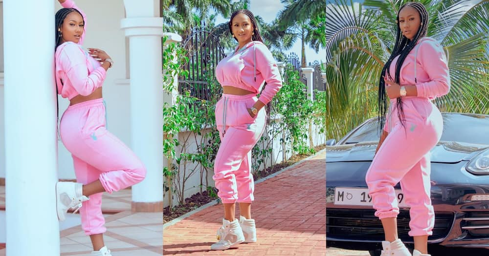 Hajia4Real shows off her plush Trassaco mansion and cars as she returns from Tanzania trip (video)