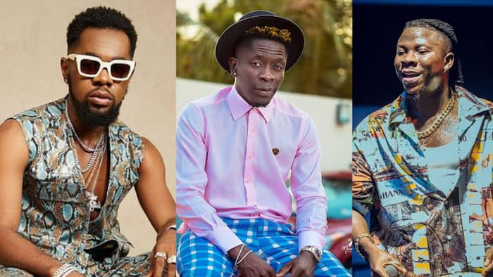 Old photo of young-looking Shatta Wale, Stonebwoy, and Patoranking together drops