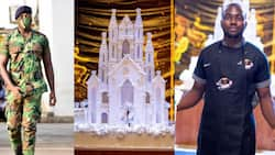Talented soldier makes Ghana's 1st giant castle cake which lights up in the dark for wedding