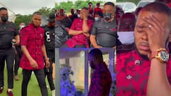And angel wept: Emotional video emerges as Angel Obinim breaks down at his father's funeral