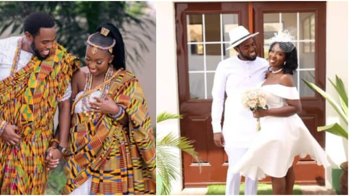 Ghanaian lady marries lover 4 years after asking him out on Twitter