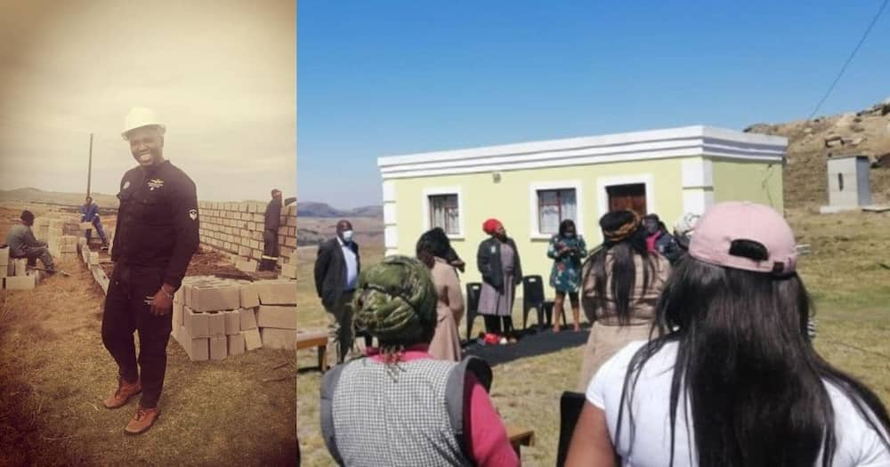 Community builds house for family Export