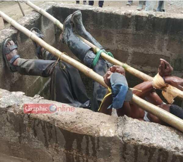 Suspected thief suspended over manhole