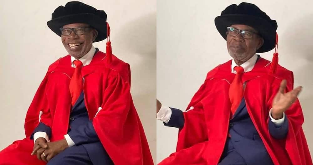 George Ayisi Boateng: Ghana's High Commissioner to South Africa bags PhD at 75