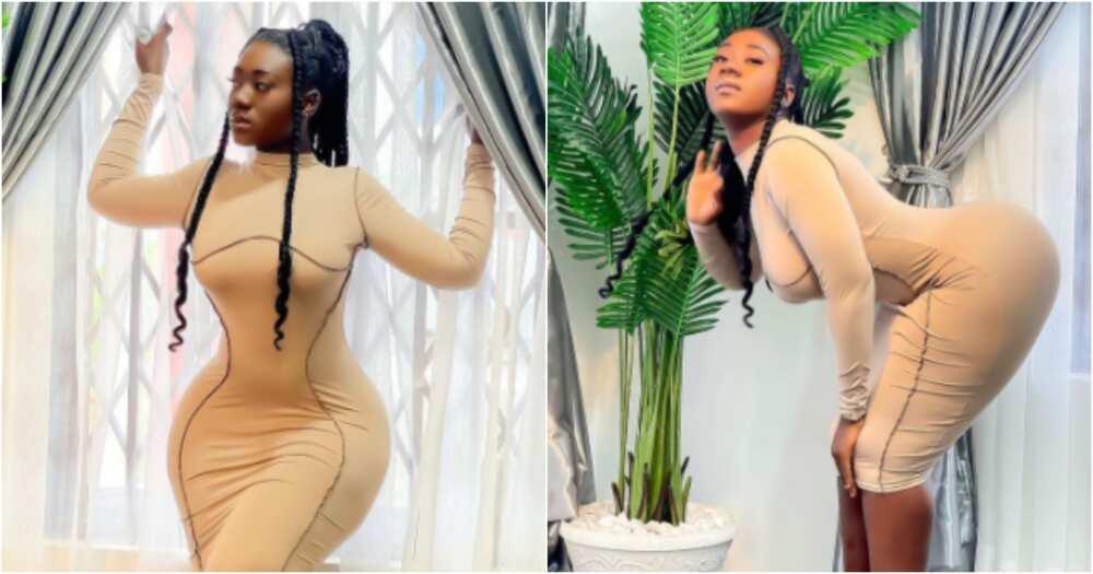 Hajia Bintu drops jaws as she flaunts her hourglass figure in skintight outfit