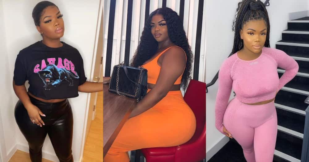 Slay Queen with enhanced body now in pain; advices girls to love themselves how they are