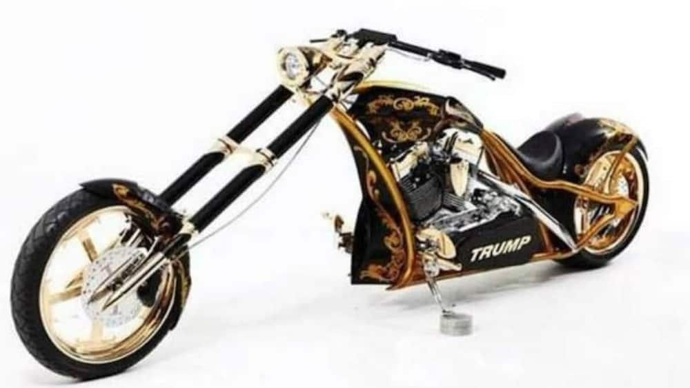 It is one of the few bikes in the world with real gold body. Photo source: Insider