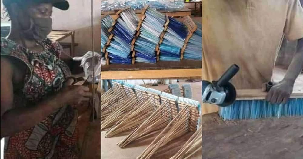 Sustainable products: Impressive photos of a team turning waste plastic bottles into broomsticks emerge online