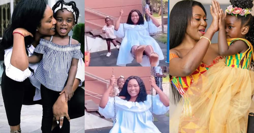 Sarkodie's wife Tracy Sarkcess and their daughter Titi play in new video