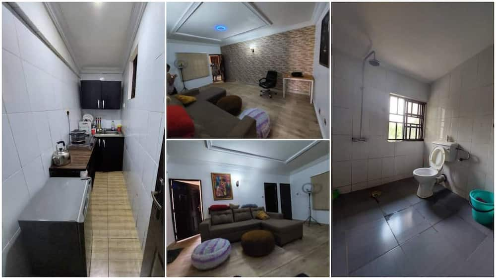 Photos of 1 room apartment goes for N1.6m rent in Abuja stirs reactions
