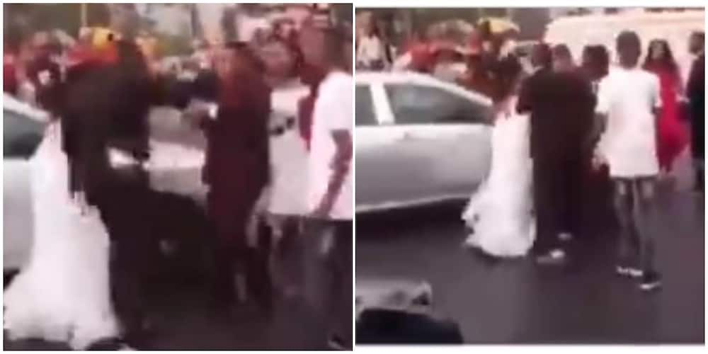 Drama as bride finds out groom has been cheating on her with chief bridesmaid on the way to their wedding
