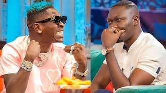 Photos of Arnold's 'GHC2.50 shoes' trend after clashing with Shatta Wale on McBrown's show
