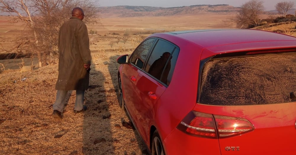 Chasing cows, not skirts: Man shows off the cool car he uses on his farm
