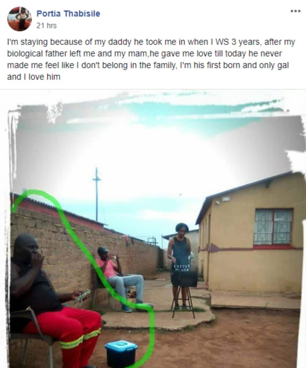 """Lady honours stepdad who raised her, inspires SA: """"A real man"""""""