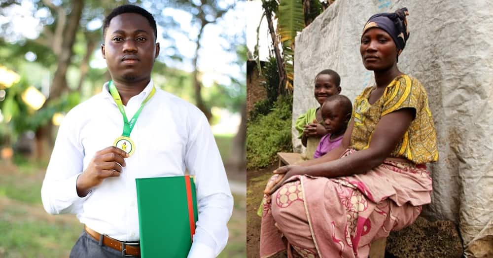 Justin Edie Ebulley: Boy who grew up in a broken home graduates from KNUST with first class