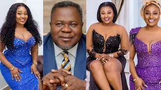 Dr Kwaku Oteng's new wife Linda warns fan who advised her to slow down on social media; photo drops