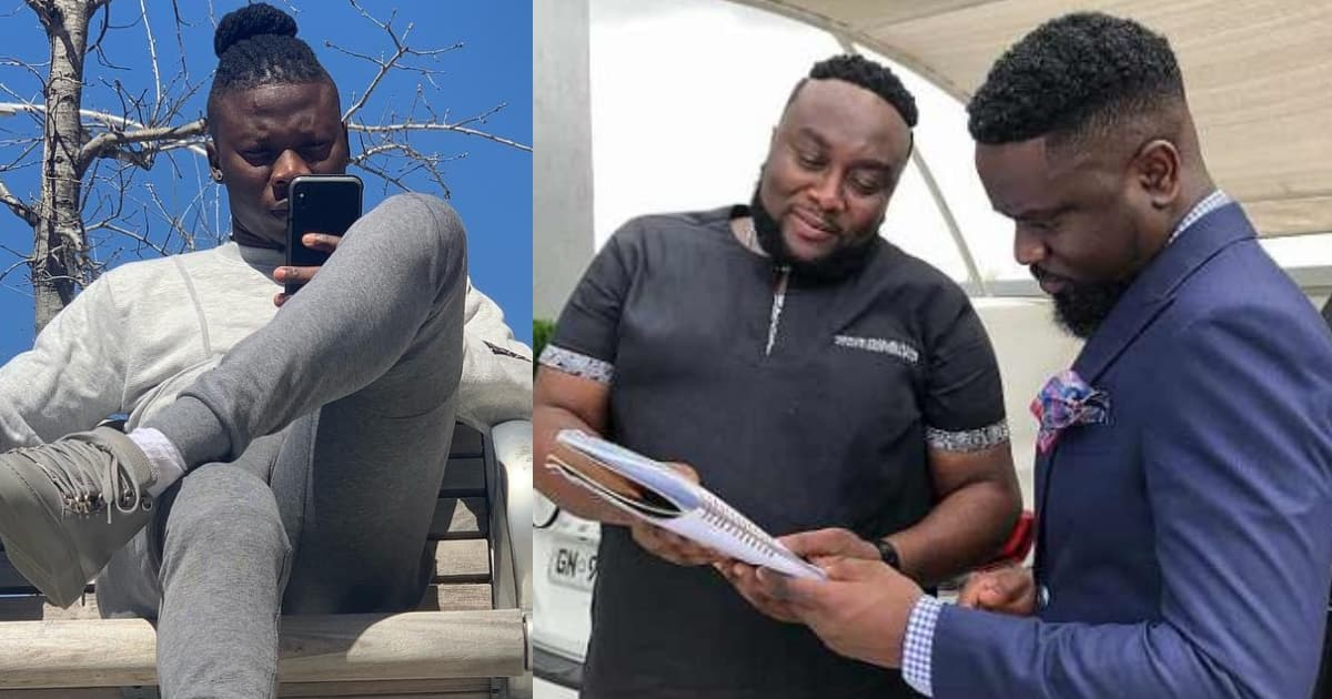 Old photo showing how small boy Stonebwoy used to bow and respect Sarkodie drops