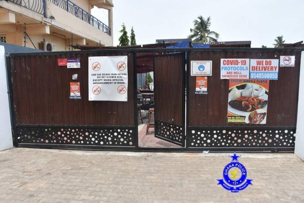 "Police arrests 150 criminals including 25 females at ""the Events Hub"", Achimota"
