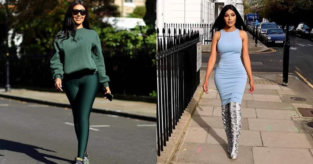 Young lady spends millions on her body just to look like Kim Kardashian