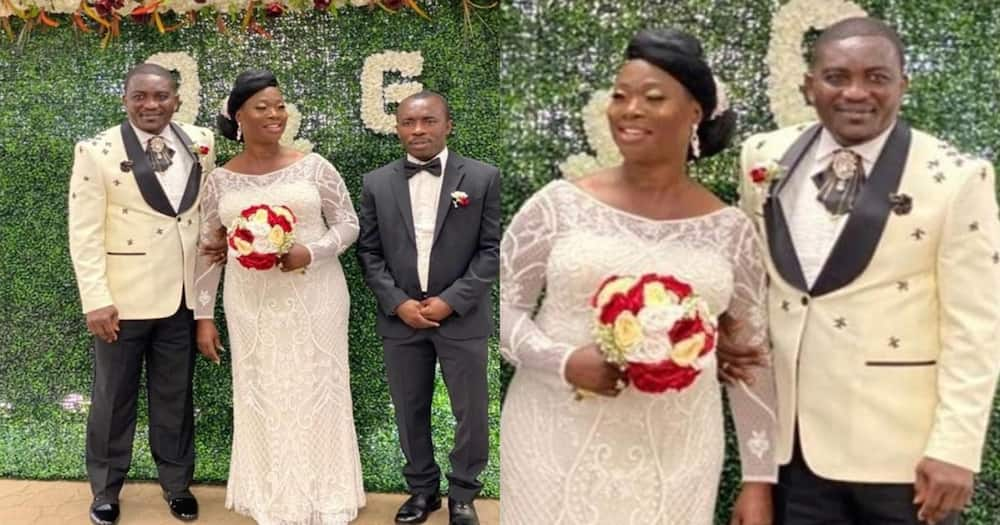 Emmanuel Osei Kuffour: Hearts legend marries in the US with ex-Kotoko star Stephen Oduro as best man (photo)