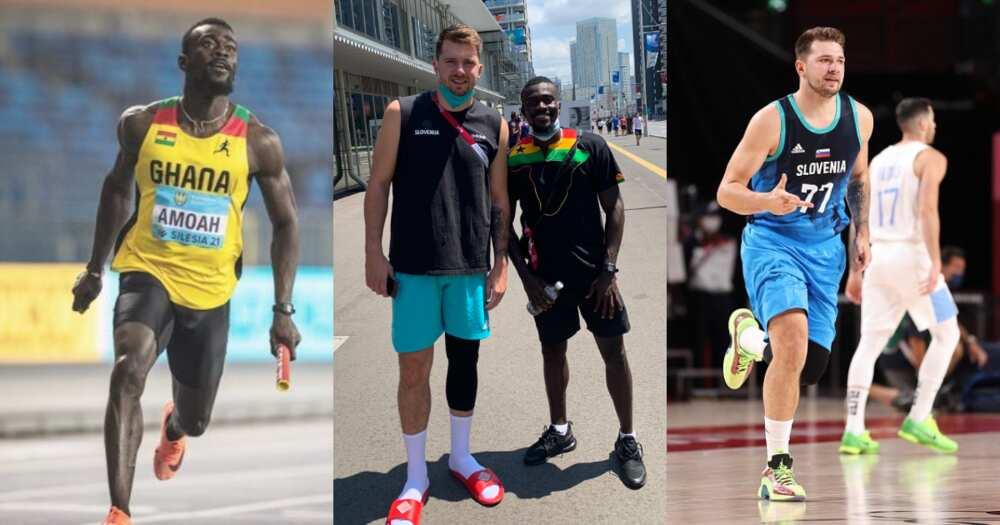 Tokyo 2020: Ghanaian sprinter Joseph Amoah meets NBA superstar Luka Doncic