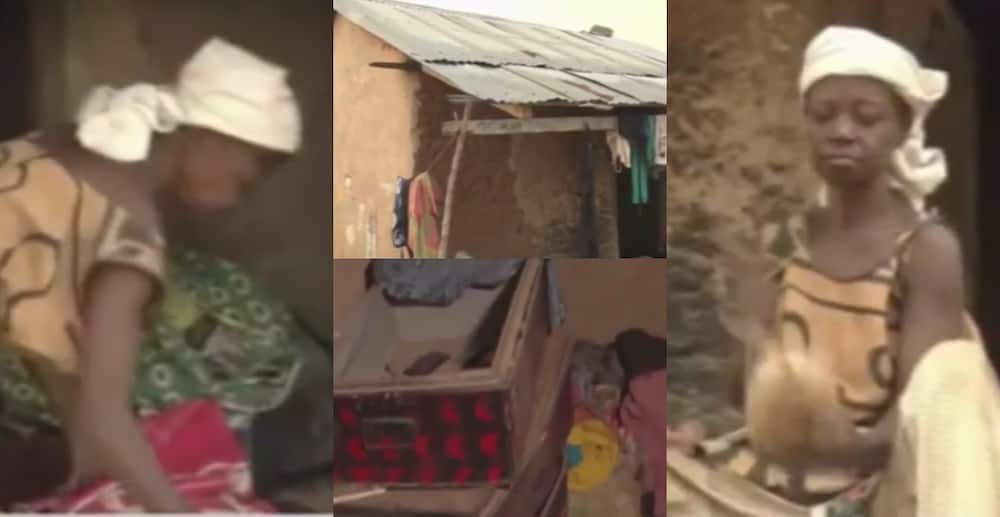 Afua Akoto: 70-year-old woman living in a mudhouse with her 2 grandkids begs for help