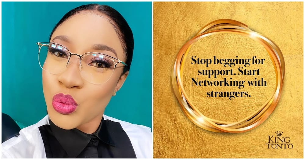 Stop begging for support, start networking with strangers - Tonto Dikeh drops harsh advice for fans on social media