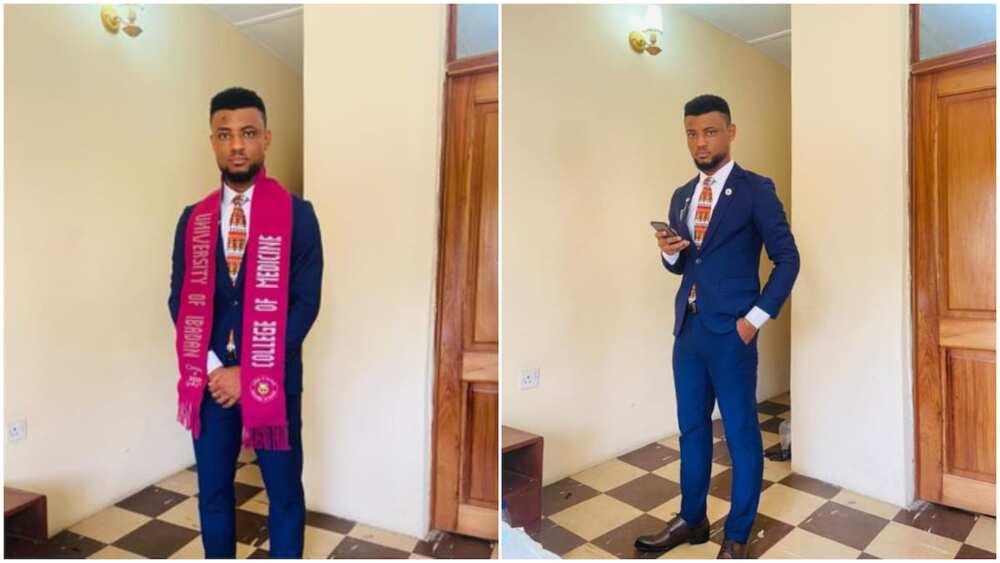 Nigerian graduates from university, celebrates his acheivement with beautiful photos