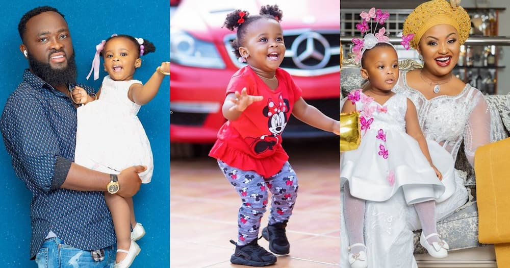 Baby Maxin: Nana Ama McBrown's Daughter Behaves like Adult Patting Back of Sister in Video
