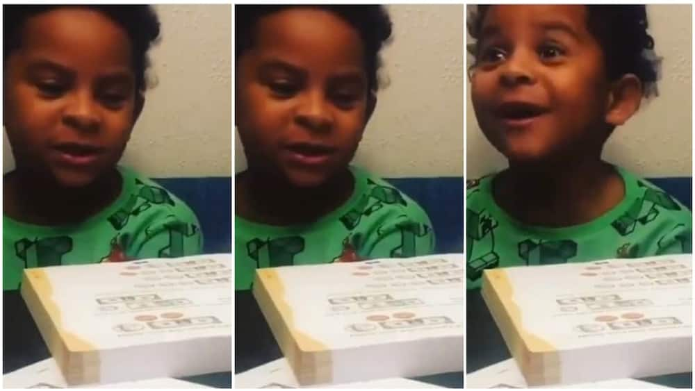 A collage showing the boy during the lesson. Photo source: Twitter/@Frediculous