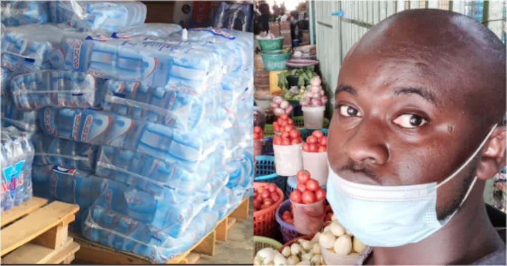 Meet the Legon graduate who now sells 'pure water' to make a living, inspires many online