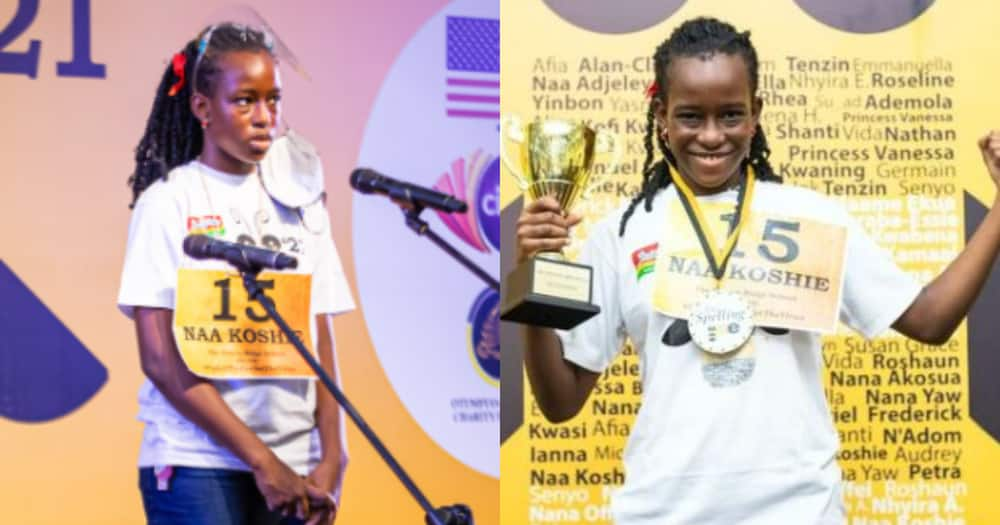 11-year old Naa Koshie Manyo-Plange wins 2021 Spelling Bee competition