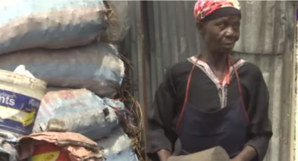 Meet over 70-year-old Adjoa 'Bidie' with damaged eye who sells charcoal